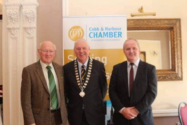 Joe Mac Coitir (The Keen House & Chamber Past President), John Sweeney & JJ O'Connell (Plato Business Network)