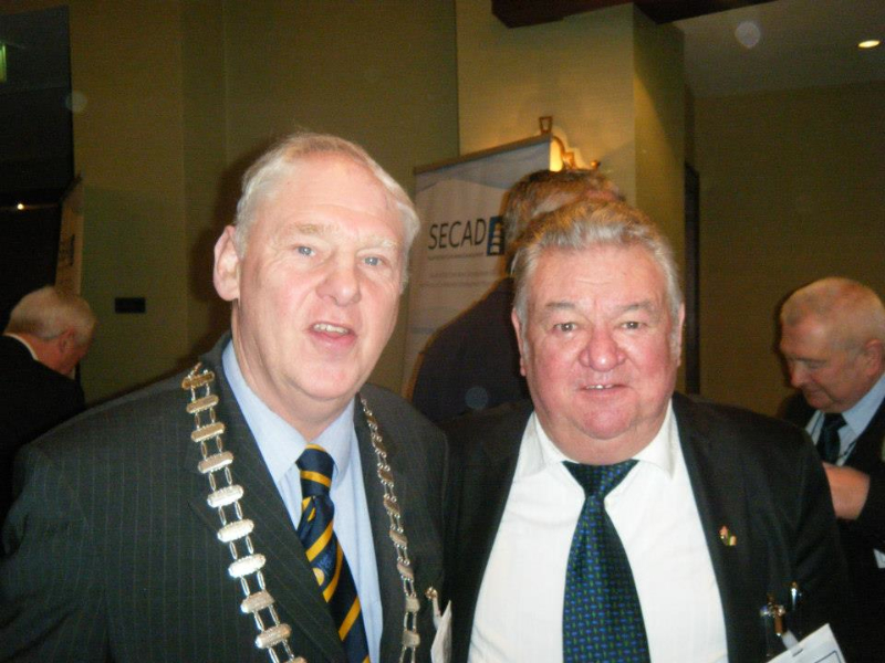 Cobh & Harbour Chamber President John Sweeney and Councillor Jim Halligan
