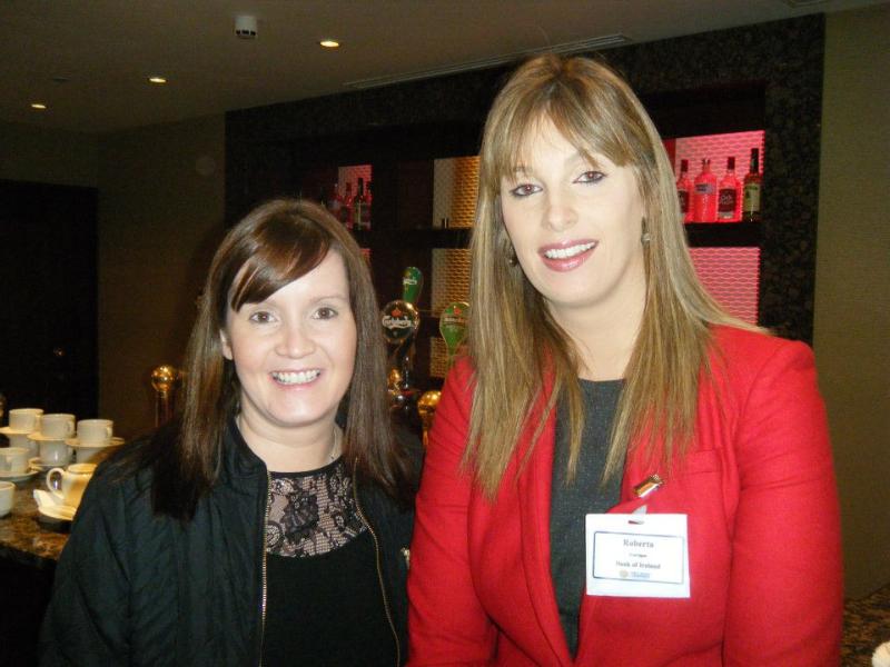 Paula Murphy and Mngr. Roberta Corrigan of Bank of Ireland